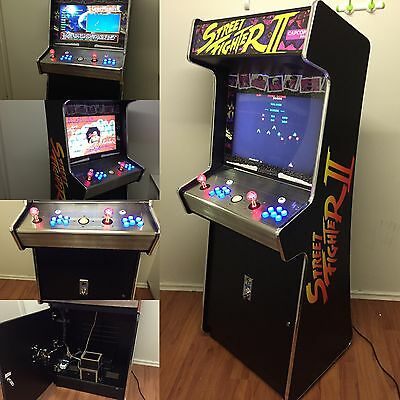 Stand Up Street Fighter Ii Machine Game With Stainles Steel Control Panel