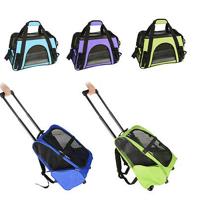 Pet Carrier Portable Shoulder Bag Luggage Box Dog Cat Travel Backpack Crate Tote