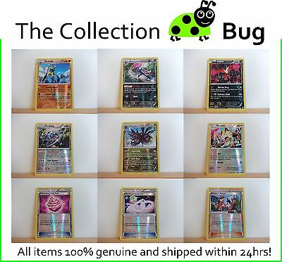 Pokemon XY Steam Siege Pick From List : Parallel Foil Reverse Holo Cards 51-106