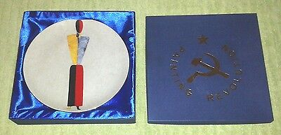 Kazimir Malevich Russian Avant Garde Plate Revolution Painting Hand Painted