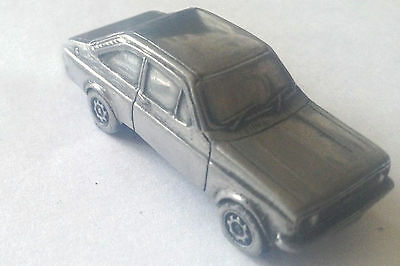 Ford Escort Mk2 2 Door Saloon ref79 Pewter Effect 1:92 Scale model car