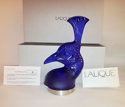 Lalique Tete de Paon New in Box Peackock