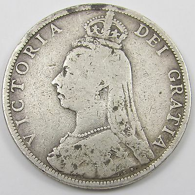 QUEEN VICTORIA JUBILEE HEAD SILVER  FLORIN/ TWO SHILLINGS COIN dated 1889