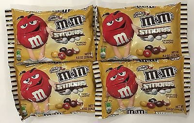 909976 4 x 226.8g BAGS OF CRISPY S'MORES M&M's - CHOCOLATE CANDIES - USA