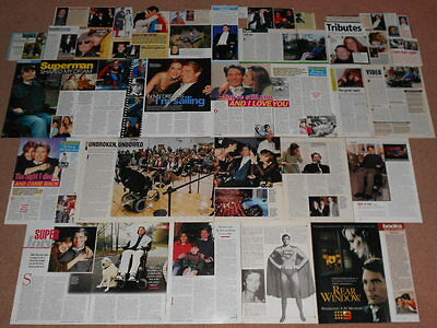 40+ CHRISTOPHER REEVE Magazine Clippings