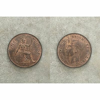 George VI 6th 1 One Penny Coin 1951