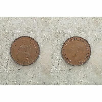 George VI 6th 1 One Penny Coin 1950