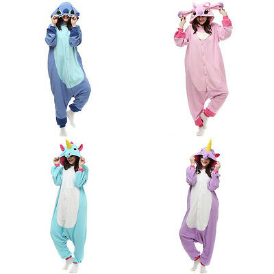 Adults Unisex Pajamas Animal Onesie Sleepwear Homewear Costume Cosplay Cartoon