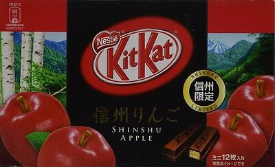Japanese Kit Kat - Shinshu Apple Chocolate Box (12 Mini Bar) F/S FROM JAPAN