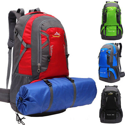 Extra Large 60L Travel Backpack Hiking/Camping Rucksack Luggage Waterproof Bag