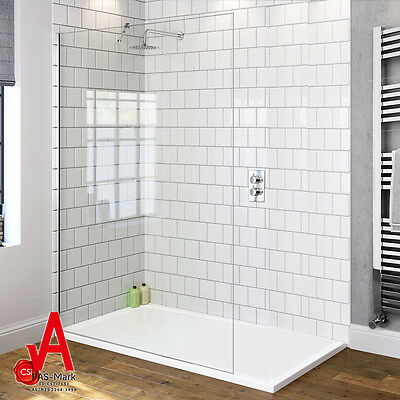 1100x1900mm Walk In Shower Screen Enclosure Fixed Panel Frameless Bathroom
