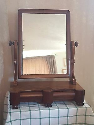 Victorian Mahogany Tilt Dressing Table Mirror with Two Draws