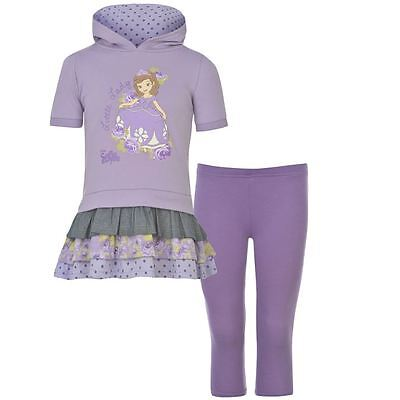 Sofia The First ~ Hooded Tunic Top & Leggings Set ~ Sizes 2 To 8 Years