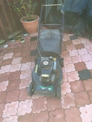 Petrol Lawn Mower Qualcast Trojan 18in With Grass Box
