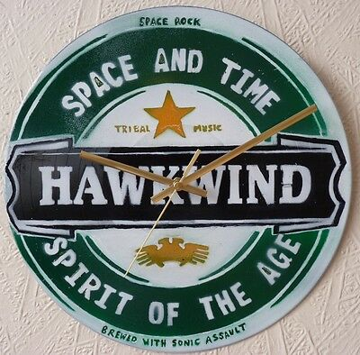 HAWKWIND inspired clock ,JESUS AND MARY CHAIN,THE DOORS.FRANK ZAPPA.SEX PISTOLS