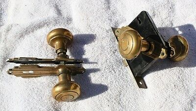 vintage mortise door knob set - With Face Plates