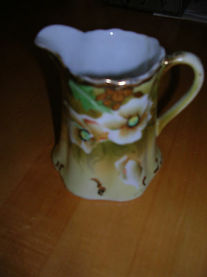 Vintage Hand-painted Floral gold Tirm Nippon Creamer