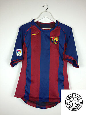 BARCELONA 04/05 Home Football Shirt (M) Soccer Jersey Nike