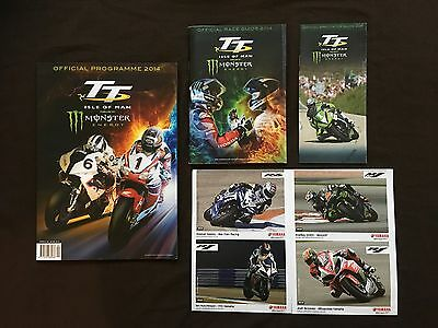 Isle Of Man TT 2014 Official Programme, Race Guide, Spectator Guide 4xPostcards