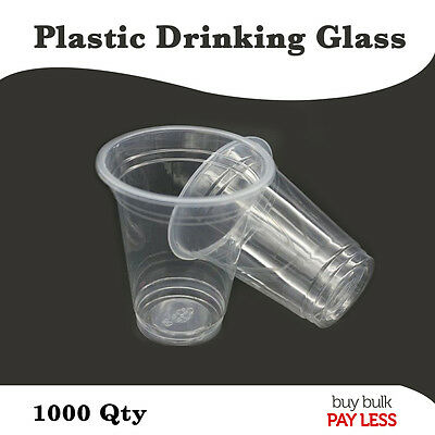 1000pc Plastic Cold Drinking cups and lids 225ml, 280ml
