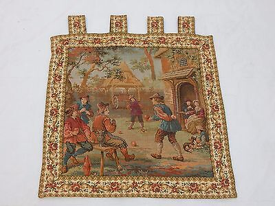 Vintage French Beautiful Scene Tapestry 57x59cm T836