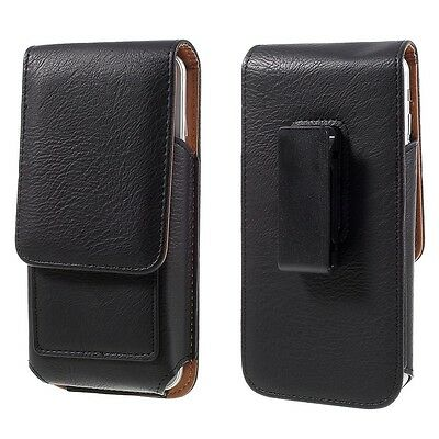 360` Swivel Belt Clip Card Id Case Leather Pouch Holster For Mobile Phones