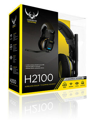 Corsair Gaming H2100 Wireless Dolby 7.1 Gaming Headset/ Mic  CA-9011127-EU