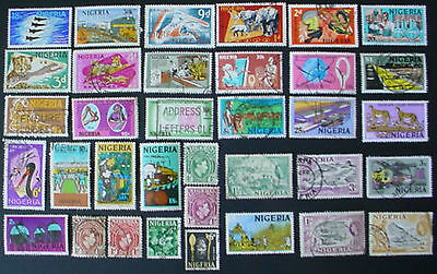 Nigeria: Collection Of 35 Used Stamps: Lot 1