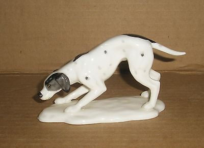 Dog Figurine Pointer/ Bone China