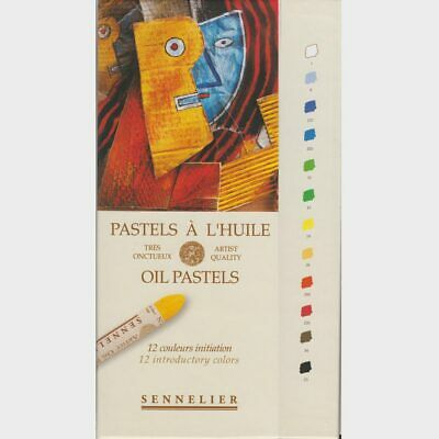 Sennelier 12 Introductory French Artists Oil Pastels Set for Drawing + Colouring
