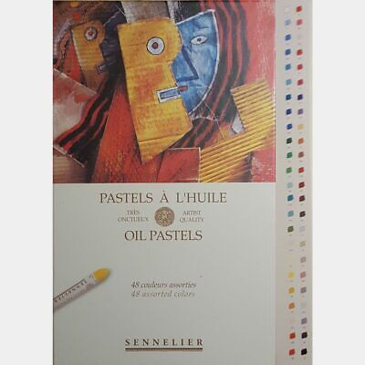 Sennelier 48 Universal French Artists Oil Pastels Set for Drawing + Colouring