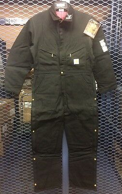 NWT Carhartt Mens 40 Regular X01 Black Quilted Coveralls