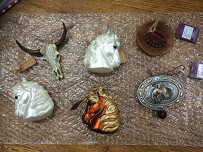 Western Ornaments: Set of 6