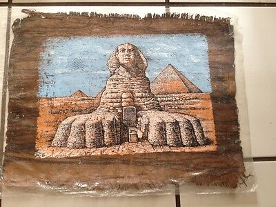 Authentic Egyptian Papyrus Featuring the Great Sphinx