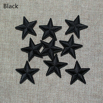 10pcs Black star Embroidered patches iron on cartoon Motif Applique CH-222