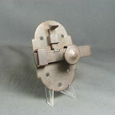 ANTIQUE FRENCH VINTAGE Iron Slide Bolt Latch Lock Door with Locking System.