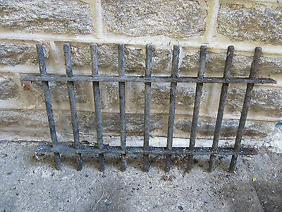 Four sections of antique iron fencing