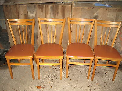 4 vintage kitchen dining  chairs