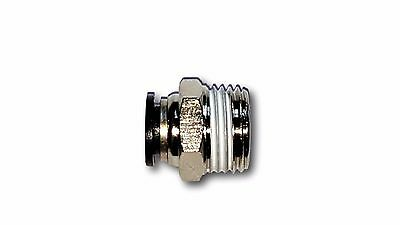 "5pcs Male Straight Connector Tube OD 3/8"" X NPT 1/2'' Push In To Connect Fitting"