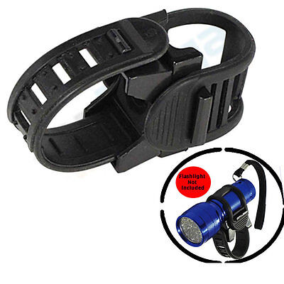 Bicycle Flashlight Torch Light Bike Holder Mount Strap Sports Universal Grip New