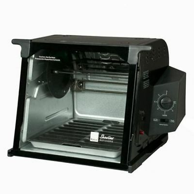 Ronco Rotisserie Standard Showtime 4000 Countertop Glass Door Oven Grill Black