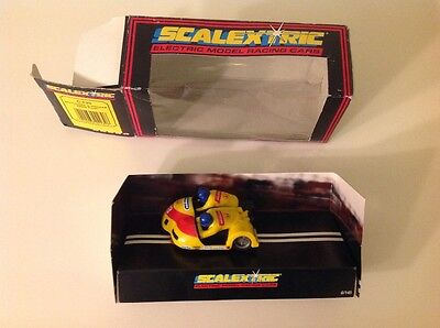 """Scalextric """"yellow Flash"""" Motorbike And Side Car Ref C239"""