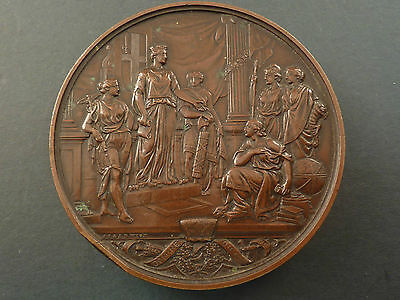 1884 New Council Chamber Guildhall Large Bronze Medallion