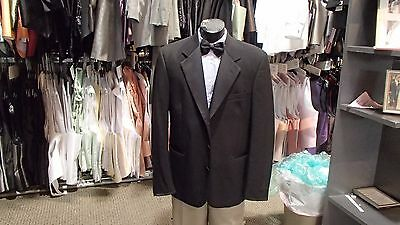 Men's Formal Black Tuxedo Jacket with 3 Button Notch Lapel, Portly