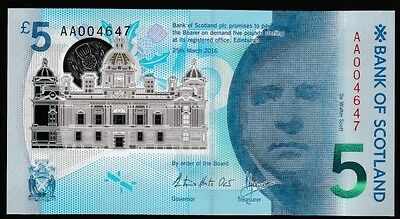 Bank of Scotland POLYMER in PRESENTATION PACK - Nice Number AA004647  *QWC*