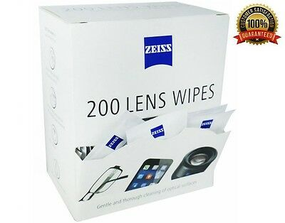 Zeiss Lens Cleaning Wipes Pre Moist Sachets 200 Pack Wipes Glasses Optical Smear