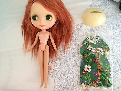 Original Vintage Kenner Blythe 1972 Red hair redhead side-part doll