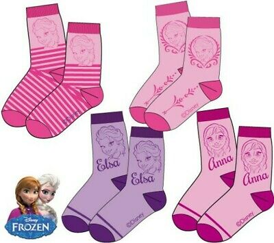 Disney Frozen Socken rosa-pink, gestreift