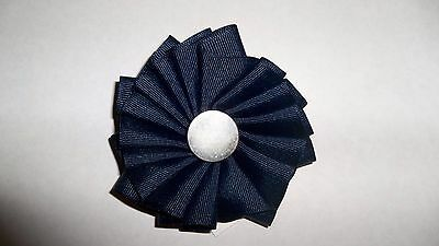 Colonial Williamsburg Tricorn Hat Cockade Military Rosette Black Fancy Pewter