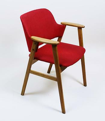 Vintage 1960's  Mid Century Danish Modern Curved Back Armchair